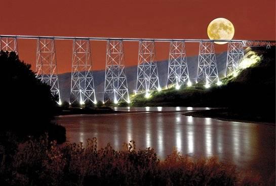 High level Bridge Lethbridge Postcards Front